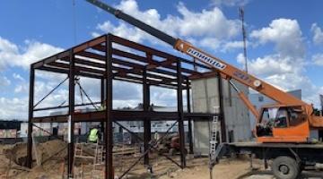 Завершены поставки металлоконструкций для строительства ресторана Burger King в д. Боровая